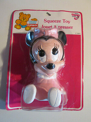 Vintage Tommee Tippee Playskool Squeeze Toy 1987 new sealed Minnie Mouse disney