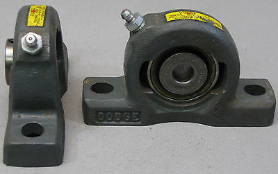 "PAIR Dodge ~ 1/2"" PILLOW BLOCK BALL BEARING ~ ""USA"""