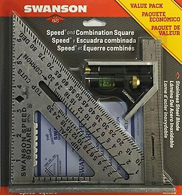 Swanson Tool S0101CB Speed Square Layout Tool with Blue Book and Combination...