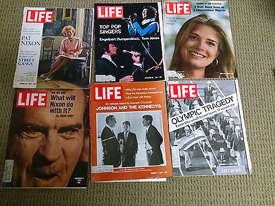 Life Magazine Classic 1970's Lot Of 6 Vintage Ads