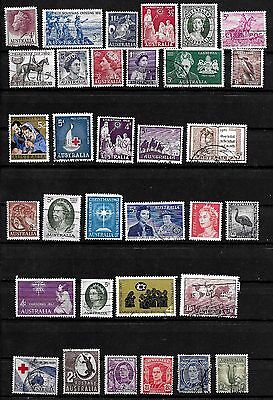 AUSTRALIA LOT of 33 USED; NOT INDIVIDUALLY IDENTIFIED