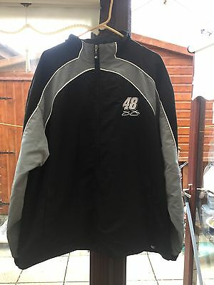 """Nascar ~ Jimmie Johnson """"Lowes 48"""" Light Weight Jacket  ~ Size XL"""
