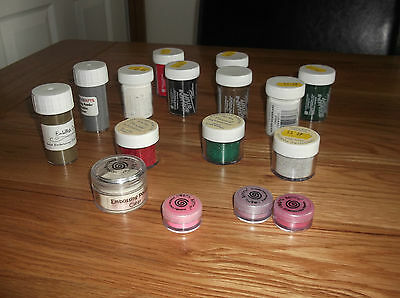 large job lot of embossing powders