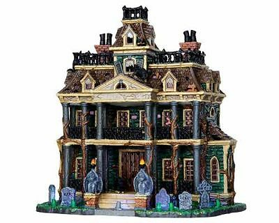 Gothic Haunted Mansion Spooky Town Collection Lemax Exterior Lighted Building