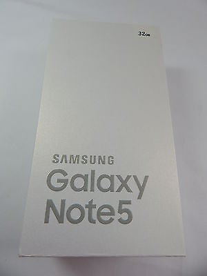 SAMSUNG Galaxy Note 5 Retail Box with Accessories - AT&T - WHITE - NO PHONE