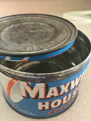 Vintage Maxwell House Coffee Tin 1 Pound Can