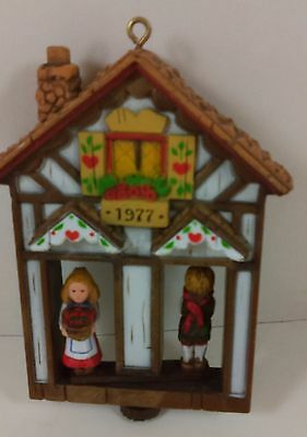 Vintage Hallmark Ornament Weather House Twirl About 1977 Boy Girl
