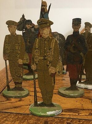 Antique Lead Figure Extremely Rare WW1 Original Toy British Soldier Military