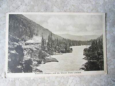 Vintage Kootenal Canyon Glacier Park Montana Great Northern Railway Post Card