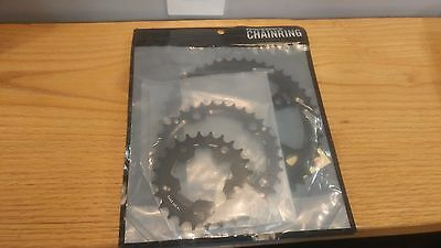 Race Face 9-Speed Team Chainring Set, 74mm x 110mm 24/34/46 Black