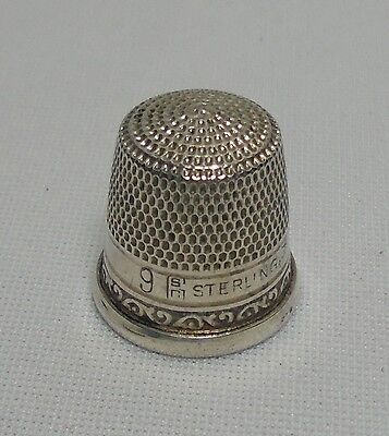Vintage Sterling Silver Thimble #9 STERN & COMPANY
