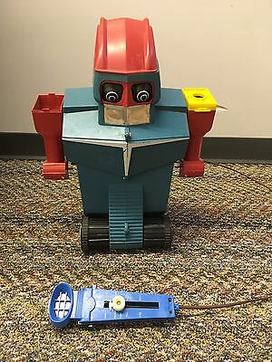 ROBOT COMMANDO 1960's BIG PLASTIC SPACE TOY by IDEAL VINTAGE ORIGINAL-AS IS
