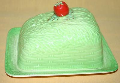 Beswick Butter Dish with Strawberry Lid