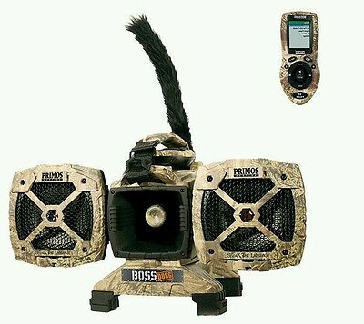 Primos Boss Dogg Predator Game Call Electronic Motion Decoy Remote Coyote 3757