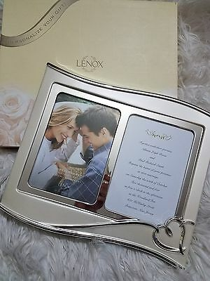 Lenox forevermore double 5×7 picture frame wedding gift