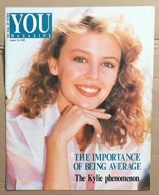 KYLIE MINOGUE You Magazine August 20 1989 Cover and article only