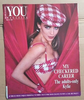KYLIE MINOGUE You Magazine June 16 1991 Cover and article only
