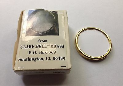 Clare-Bell™ Brass Works dollhouse miniature ROUND MIRROR made in USA 1:12 EUC