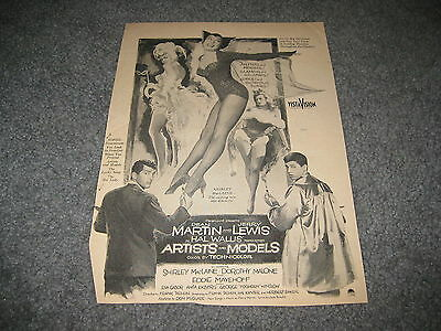 Artist and Model Dean Martin Jerry Lewis  promo ad 1954