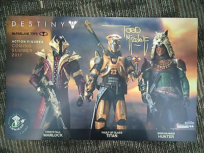 Todd McFarlane Signed Destiny Exclusive Poster ECCC Limited 1/300 In Hand 11x17