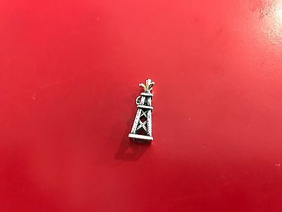 James Avery It's a Gusher Charm Oil Rig Sterling Silver 14K .925