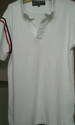 Kingsland men's equestrian polo shirt white xl