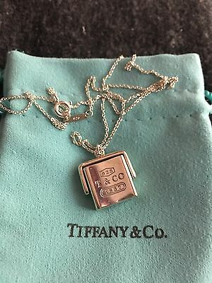 Tiffany & Co Sterling Silver 1837 Square Flip Necklace 16 Inches