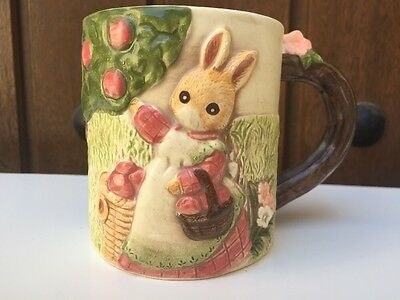 Ceramic Stoneware Fox Bunny coffee mug cup Takakashi Japan