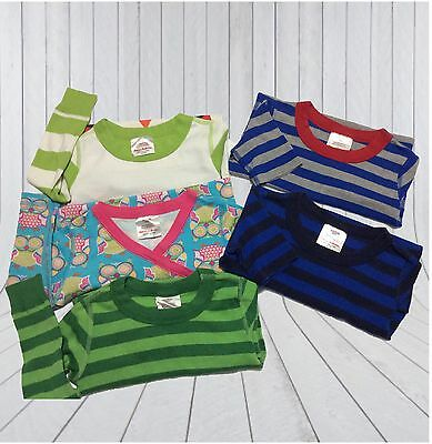 ✅ Lot Of Hanna Anderson Boy Girl Pajama Tops 120 US 6-7 Striped Organic New EUC