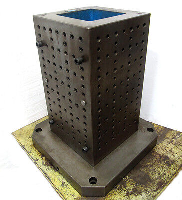 "KURT 10"" x 17½"", 4-Sided STEEL TOMBSTONE - CNC WORKHOLDING - VERTICAL SUBPLATE"