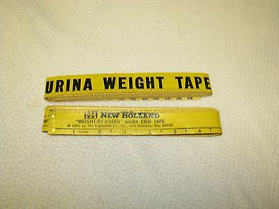 New Holland & Purina Vintage Collector Measuring Cows Weight Tapes