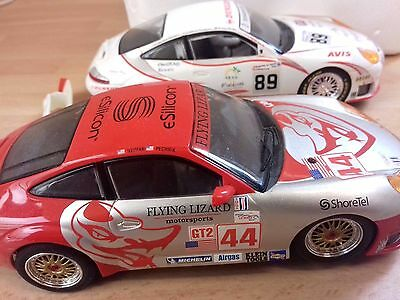 Scalextric Sport Extreme Racing Cars Porsche 911 turbo x 2