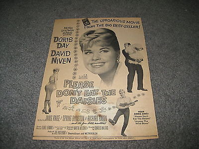 Vintage Movie ad - Please don't eat the daisies Debbie Reynolds David Niven 1950