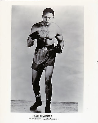 ARCHIE MOORE 8X10 Photo BOXING BLACK AND WHITE PICTURE 4 LOT