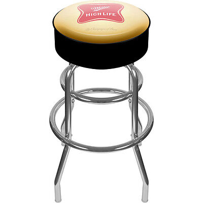 "Trademark Global Miller High Life Logo 30"" Padded Bar Stool"