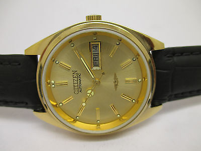 Vintage Men's Citizen Automatic Day & Date Wrist Watch In Beautiful Condition