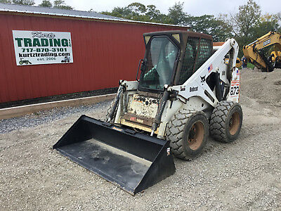 2002 Bobcat 873G Skid Steer Loader w/Cab!
