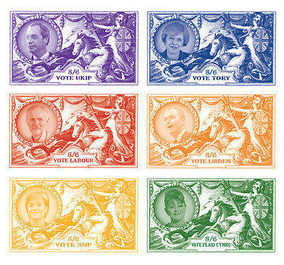 Limited Edition Political stamp designs (inspired by George V Seahorses)