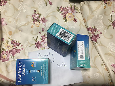 300 One Touch Ultra Blue Test Strips New sealed, retail Exp 10/2018 Priority S/H