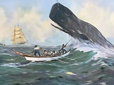 Whaling Prints Art by Percy Dalton of Holland - FOUR VINTAGE PRINTS