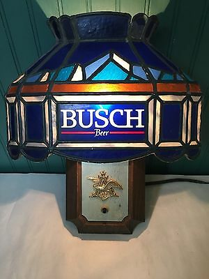 Busch Beer Plastic Stained Glass Wall Light Sconce
