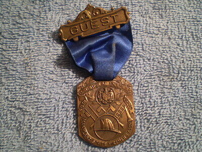 Antique Fire Medal 1940 48th Convention at Lonaconing Maryland State Firemen's A