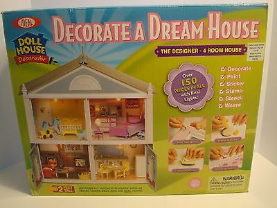 IDEAL Doll House Kit Decorate a Dream House with furniture & accesssories