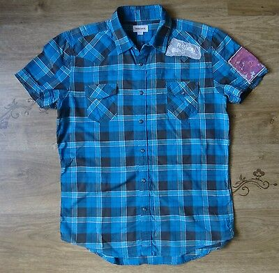 Diesel Men's Checked Short-Sleeve Casual Shirt - Size L Large ,VGC !