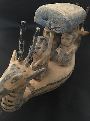 Rare Large  Ancient Egyptian Old Kingdom Wooden Boat Figure