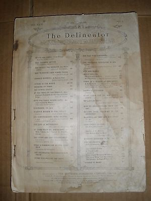 THE DELINEATOR 1908 VOL LXXL No 3 Vintage Antique Prints Advertisements Magazine