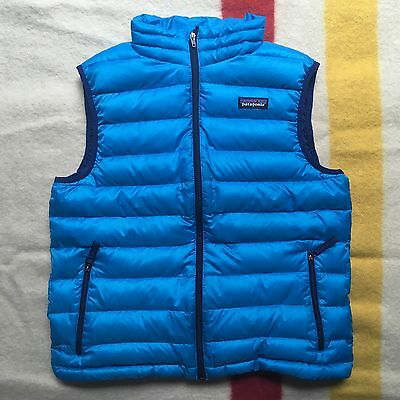 Youth Patagonia Nano Puff Vest Blue Boys XL 14