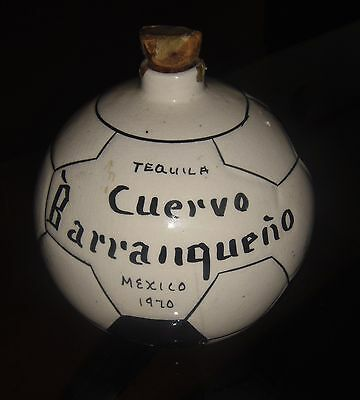 TEQUILA CUERVO Mexico 1970 FIFA WORLD CUP SOCCER BALL CERAMIC BOTTLE