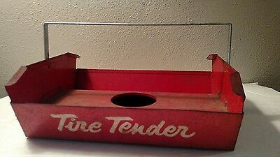 Vintage Tire Tender Metal Carrying Tray, Tube and Tire, Gas Station