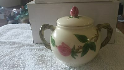 Vintage Franciscan Desert Rose 1953-1958 Sugar Bowl W/Lid USA Black Stamp